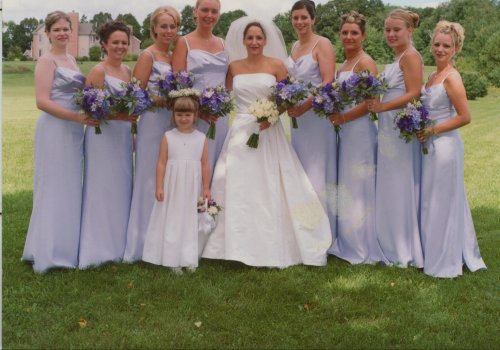 Bridal Party with Flower Girl