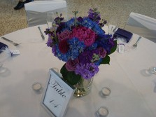 Purple and Blue Flower Setting