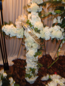 Memorial Flower Cross
