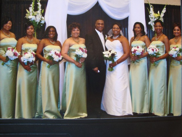 Couple with the Bridesmaids