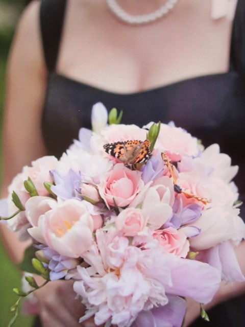 Bouquet with Butterfly
